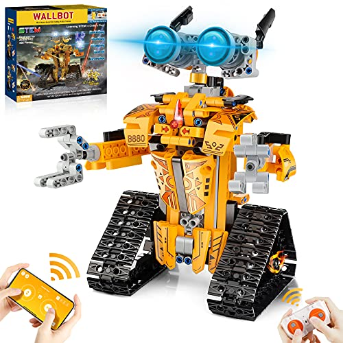 OASO STEM Projects for Kids Ages 8-12, Remote & APP Controlled Robot Building Toys Birthday Gifts for Boys and Girls (468 Pieces)