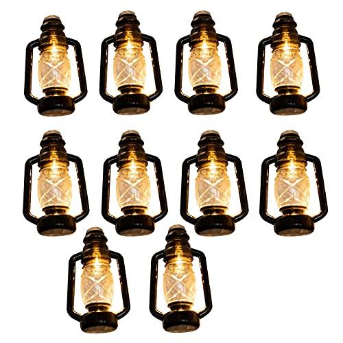 LKJSD Lámpara de Kerosene LED Halloween, Linterna de Caballo Retro, Cadena de luz de batería nostálgica, Cadena de luz de decoración de Barra al Aire Libre de Navidad, 2 Metros 10 Luces