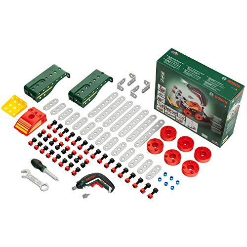 Theo Klein 8497 Multi-Tech Construction Set with Bosch Ixolino I 107 Components I Battery-Powered Ixolino with Light and Sound I Dimensions: 32 cm x 27 cm x 9.5 cm
