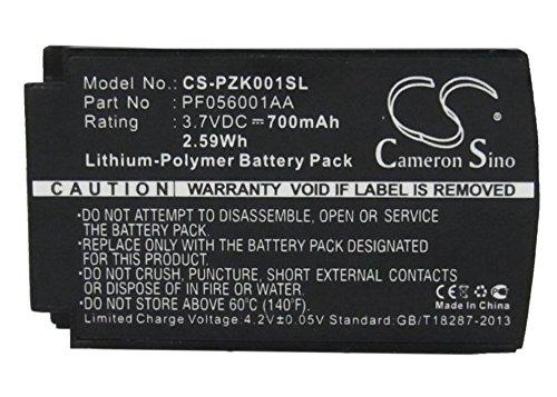 Batteria per cuffie wireless Parrot Zik, compatibile con Parrot PF056001AA (700 mAh/2,59 Wh,3,70 V, polimeri di litio, Cameron Sino)