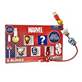 WOW! Stuff Collection K-BLINGS Marvel Cable Protectors, 5 Pack, Multicolor, MVL-KB-1024