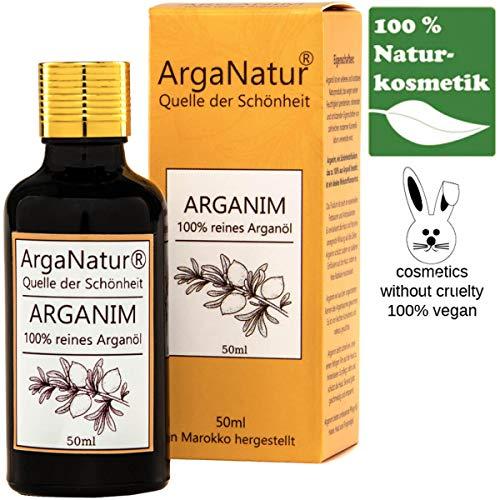 ArgaNatur Arganim   Argan-Öl Kosmetik für Haut und Haar   50ml  Tropfer   100{e3e8093a3567ab68791cbe95f79f9694aae972fe9aaf65b23fcfac08d472c390} Rein   Anti-Aging Serum Organic   Tieversuchfrei   Cruelty Free   Naturkosmetik  Gut geschüzt durch Braun-Glas