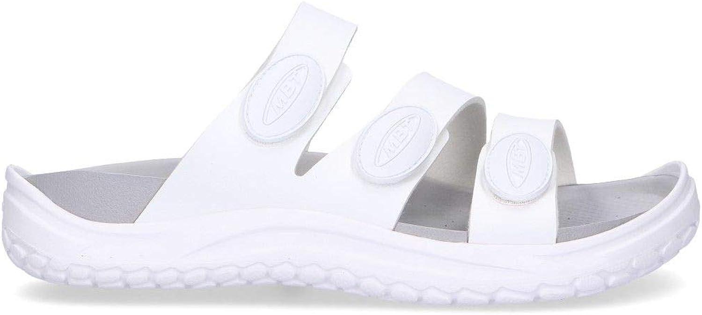 MBT Men's 90000616L White Polyester Sandals