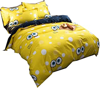 Bed Set Queen comforter cover Set Cartoon big eyes baby– 3 Piece Bedding Sets One Duvet Cover Two pillowcovers– Soft Microfiber Teen Bedding for Kid Girl Bedroom (Big eyes baby, Queen,90''x90'')