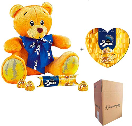 Perugina Orsetto Baci Gold Caramel con Tubo da 37,5 gr + Scatola Cuore Baci Gold Caramel 100 gr Limited Edition