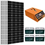 ECO-WORTHY 1KW 4KWH/Day Complete Solar Panel System Kit: Solar Panel + All-in-ONE Inverter + Battery + Solar Cable for Homes House...