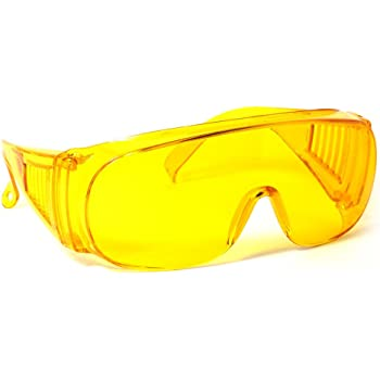 Calabria 1003 Large Fit-Over UV Protection in Yellow