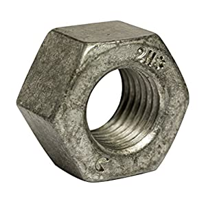 Qty-250 Square Nuts Hot Dipped Galvanized Grade 2-3//8-16 UNC