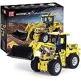 FYHCY Juego de construcción de Bulldozer técnico de 1830 Piezas, aplicación y Modelo de Cargador de Ruedas de Control Remoto de 2,4 GHz Compatible con Lego Technic