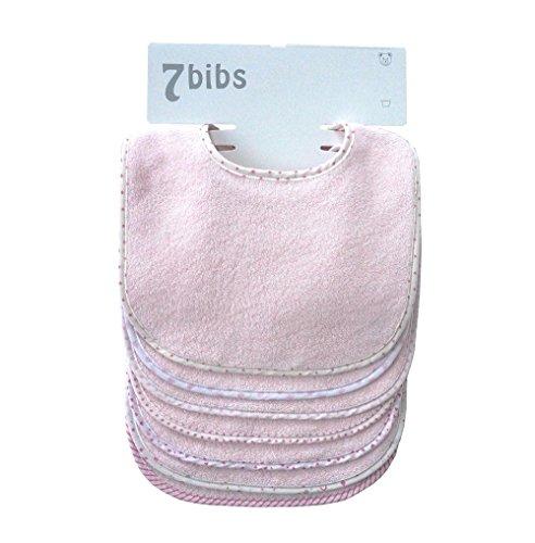 Bebé Niños Niñas Doble Capa Algodón Bandana Drool Suave Absorbente baberos (7 piezas) (pink)