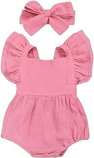 City Mouse Newborn Romper Jumpsuit Baby Girls Bodysuit Outfits Headband