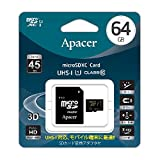 Apacer アペイサー AP64GMCSX10U1-J microSDXC UHS-I Class10 64GB 日本アペイサー国内3年保証品