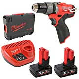 Milwaukee 4933451509 - M12 cpd-602x fuel taladro percutor fuel-sin escobillas 12v, 6,0ah,...