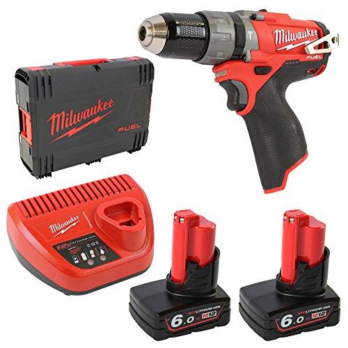 Milwaukee 4933451509 - M12 cpd-602x fuel taladro percutor fuel-sin escobillas 12v, 6,0ah, 0-450/0-1700rpm, 44nm, maletín hd box