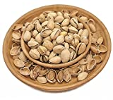 Pistachio Bowl   Bamboo Pedestal Bowl with Shell Storage for Nuts, Seeds & Other Snacks