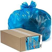 "Alufプラスチック710751Ultrasac Heavy Dutyプロフェッショナル品質リサイクルTrashバッグ、33ガロン容量、長38"" x 33""幅、ブルー(ケースof 50) 33 gallons 710751 50"