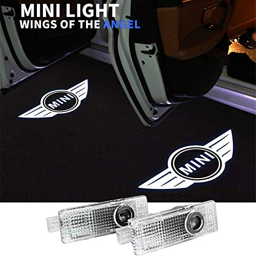 Mini Cooper Accessories Car Door LED Logo Projector Welcome Lights For Mini Cooper (2-Pack)