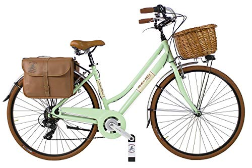Canellini Via Veneto by Dolce Vita by Fahrrad Rad Citybike CTB Frau Vintage Retro Dolce Vita Aluminium (46, Hellgrun)