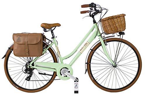 Canellini Via Veneto by Dolce Vita by Fahrrad Rad Citybike CTB Frau Vintage Retro Dolce Vita Aluminium (50, Hellgrun)