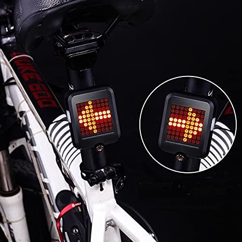 Eamplest Luz Trasera de Bicicleta Impermeable LED Recargable USB, Indicador de Dirección de Bicicleta, luz de Advertencia Portátil para Cualquier Bicicleta