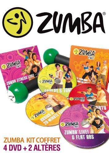 ZUMBA Coffret 4 DVD + 2 Haltères - Version Française