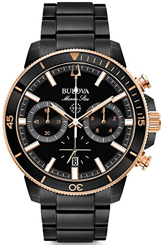 Bulova Herren Chronograph Quarz Uhr mit Edelstahl Armband 98B302