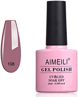 AIMEILI Soak Off UV LED Gel Nail Polish - Brown lilies (108) 10ml