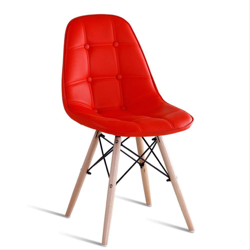 Chaise de salle à manger en plastique avec pieds en bois
