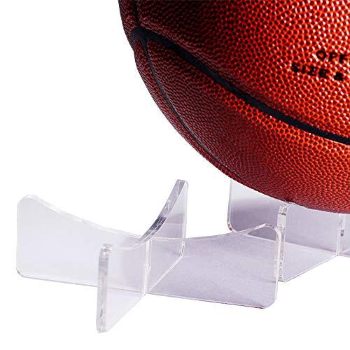 LANSCOERY Ständer für Basketball, Fußball, Volleyball, Softball, Fußball, Fußball, Golfball, Rugbyball, Baseball, Eier, Kugeln, Puzzle, 11,9 x 4,6 cm Ballständer