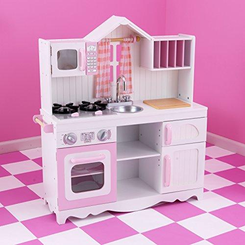 KidKraft 53222 Moderne Country Spielküche, Rosa und Weiß - 6