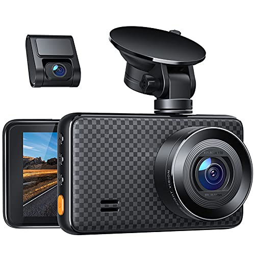 """2.5K Dash Cam Front and Rear for Cars, Dual Dashboard Cameras with IR Sensor Night Vision, Car Driving Recorder with 3"""" IPS Display, Motion Detection, Parking Monitor, Loop Recording, Support 128GB"""