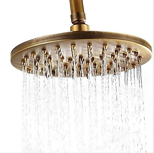 Accesorio de grifo de ducha de baño de latón antiguo 8 & quot;Cabezal de ducha de lluvia/Ducha de mano/Manguera de 150 cm/Válvula de ángulo/Soporte, 4