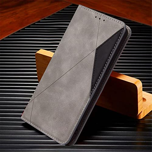 HHF-1 1fortunate Cajas del teléfono para Xiaomi Poco X3 NFC, Funda de Cuero Cubierta de la Billetera para Redmi Note 8T 9 Pro MAX MI 9T 10T Note 10 Ultra (Color : Gris, Material : For Mi 10(Pro))