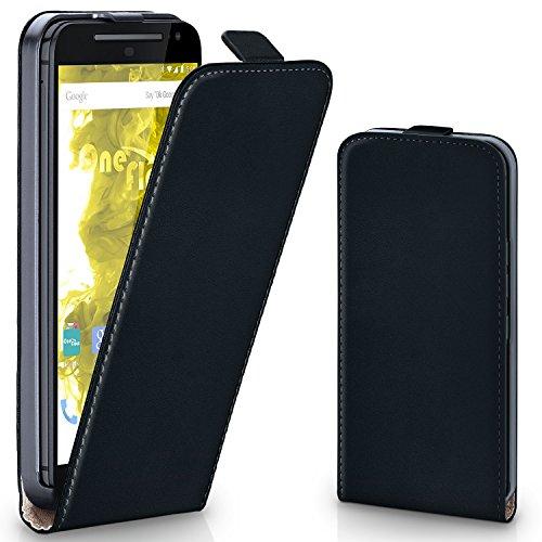 MoEx® Flipcase passend für Motorola Moto G2 | Klapphülle Handytasche mit Rundum Schutz - Handy Hülle Klappbar Flip Case, Schwarz