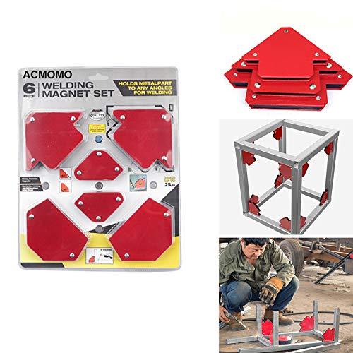 6PCS Squadra Magnetica Posizionatore per Triangolazione con Saldatura Magnetica Senza Interruttore Accessori per Saldatura Multi Specifica