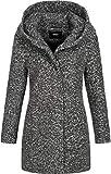 ONLY Onlsedona Boucle Wool Coat Otw Noos Abrigo, Gris (Dark Grey Melange Detail:Melange), S para Mujer
