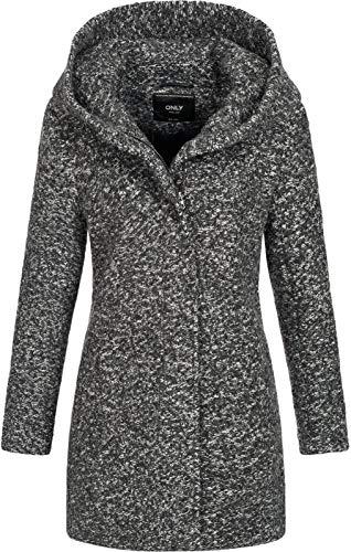 Only Onlsedona Boucle Wool Coat Otw Noos Giubbotto, Grigio (Dark Grey Melange Detail:Melange), 44 (Taglia Produttore: Medium) Donna