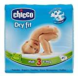 Chicco Couches Jetables Dry Fit Taille 3Midi 4-9kg 9-9kg-Pack de 42couches