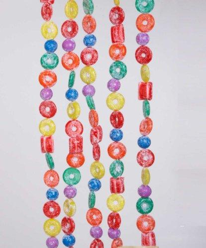 Kurt Adler H1737 6-Foot Plastic Glittered Life Saver, Ball, and Candy Garland