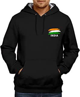 CUPIDSTORE Army Sweatshirts - 1 Indian Flag Red Blue Black Hoodies for Mens