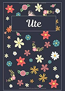Ute: Tagebuch Malbuch Notizbuch Journal   120 Seiten   DIN A4   Blanko   Geschenkidee