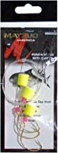 Matzuo Pompano Wide Gap Rig with Kahle Floats and Fluorescent Beads, Gold