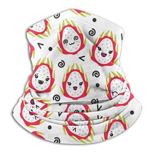 Niedliche lächelnde Drachenfrüchte Mikrofaser Halswärmer Kopfbedeckung Schal Kaltes Wetter Winter Outdoor Sport Bandana Sturmhaube Unisex