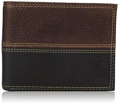 Carhartt Men's Billfold Wallet, rugged brown/black, ONE SIZE