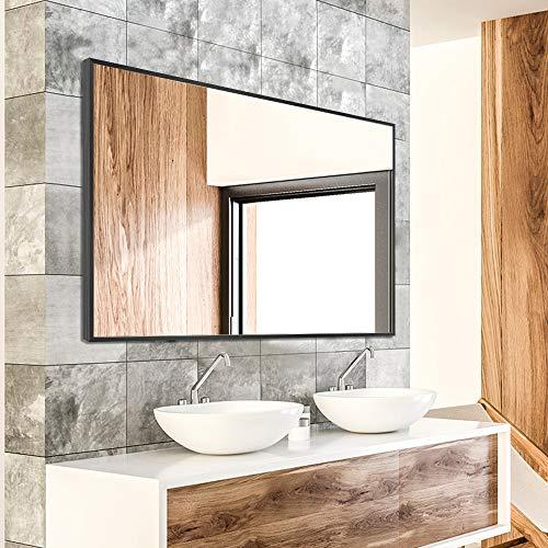 NeuType Wall-Mounted Mirror Rectangular Hanging Mirror Metal Framed Wall Mirror, Best for Bathroom,...