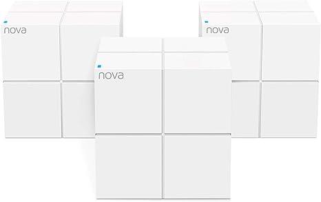 TALLA 3 Pack. Tenda Nova MW6 Mesh WiFi Sistema, Router Inalámbrico Wi-Fi de Red en Malla (AC1200 Dual-Band hasta 500㎡, 2 Puertos Gigabit, Mu-MIMO, Parental Control, Funciona con Alexa) 3Pack