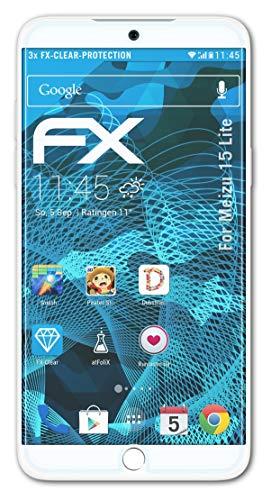 atFolix Schutzfolie kompatibel mit Meizu 15 Lite Folie, ultraklare FX Bildschirmschutzfolie (3X)