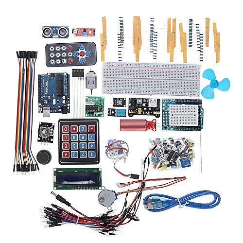ZhanPing Zumbador de Placa de Fuente de alimentación LCD1602 for Arduino UNO R3 Super Starter Kit Kit de Bricolaje Compatible con SCM