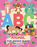 """ABC Animal Coloring Book: A Fun Game for 3-8 Year Old   Picture For Toddlers & Grown Ups   Letters,Shapes,Color Animals 8.5 x 11""""   29 Pages"""