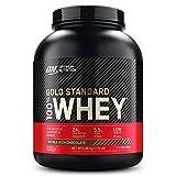 Optimum Nutrition Gold Standard 100% Whey Proteína en Polvo, Glutamina y Aminoácidos Naturales, BCAA, Double Rich Chocolate, 73 Porciones, 2,26kg, Embalaje Puede Variar